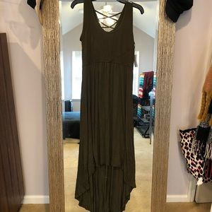 NWT Olive Green Maxi Dress